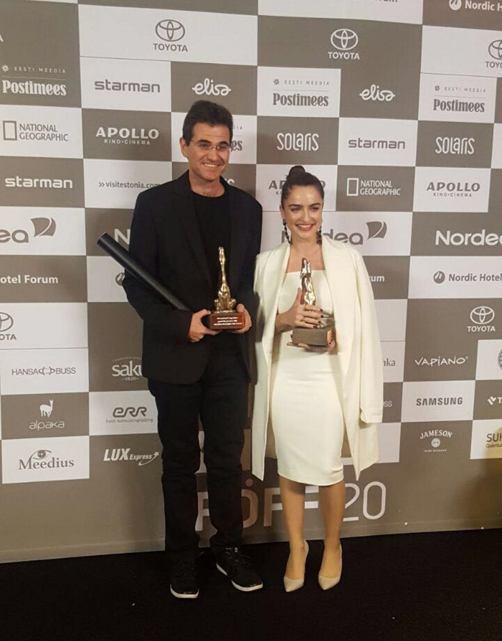 Israeli director Eitan Anner collected the Grand Prix at the 20th Tallinn Black Nights Film Festival and Ania Bukstein was awarded as the best actress. Photo courtesy