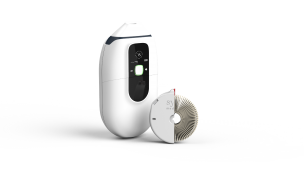 Syqe Medical's inhaler enables the patient to inhale metered doses of vaporized cannabis granules. Photo: courtesy