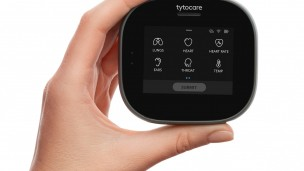 Tyto Care enables patients to connect to a physician for a comprehensive remote exam. Photo courtesy
