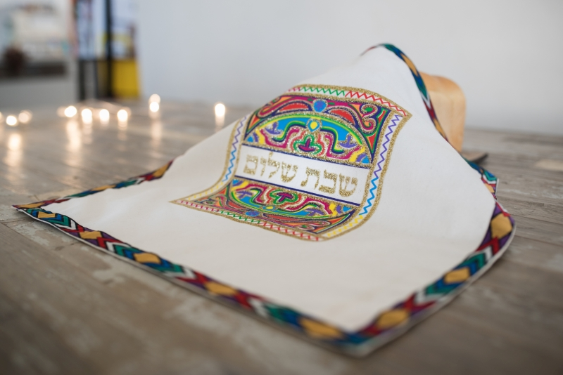 Handmade challah covers by Ethiopian-Jewish women. Photo by chicbox everyday photography