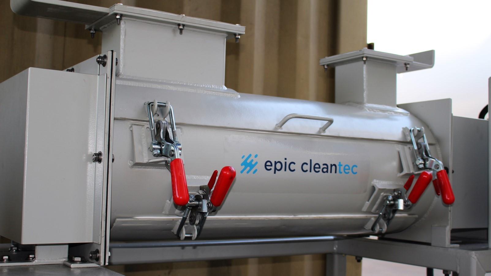 Epic CleanTec's prototype system. Photo: courtesy