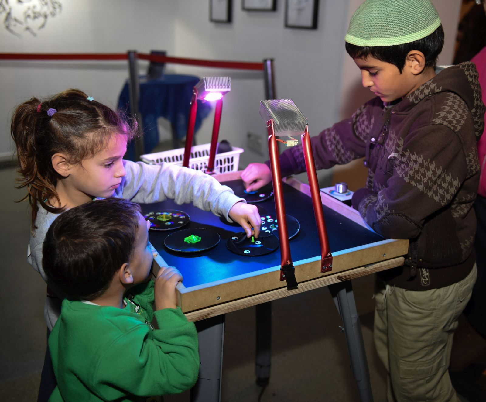 Hanukkah at the Bloomfield Science Museum in Jerusalem. Photo by Avi Hayun
