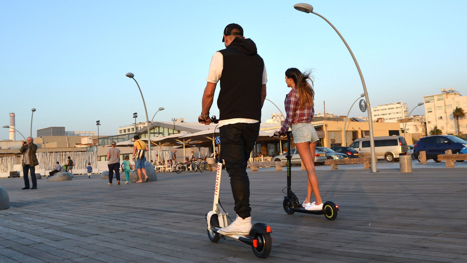 Urban transportation with a green spin. Photo courtesy of Inokim Israel
