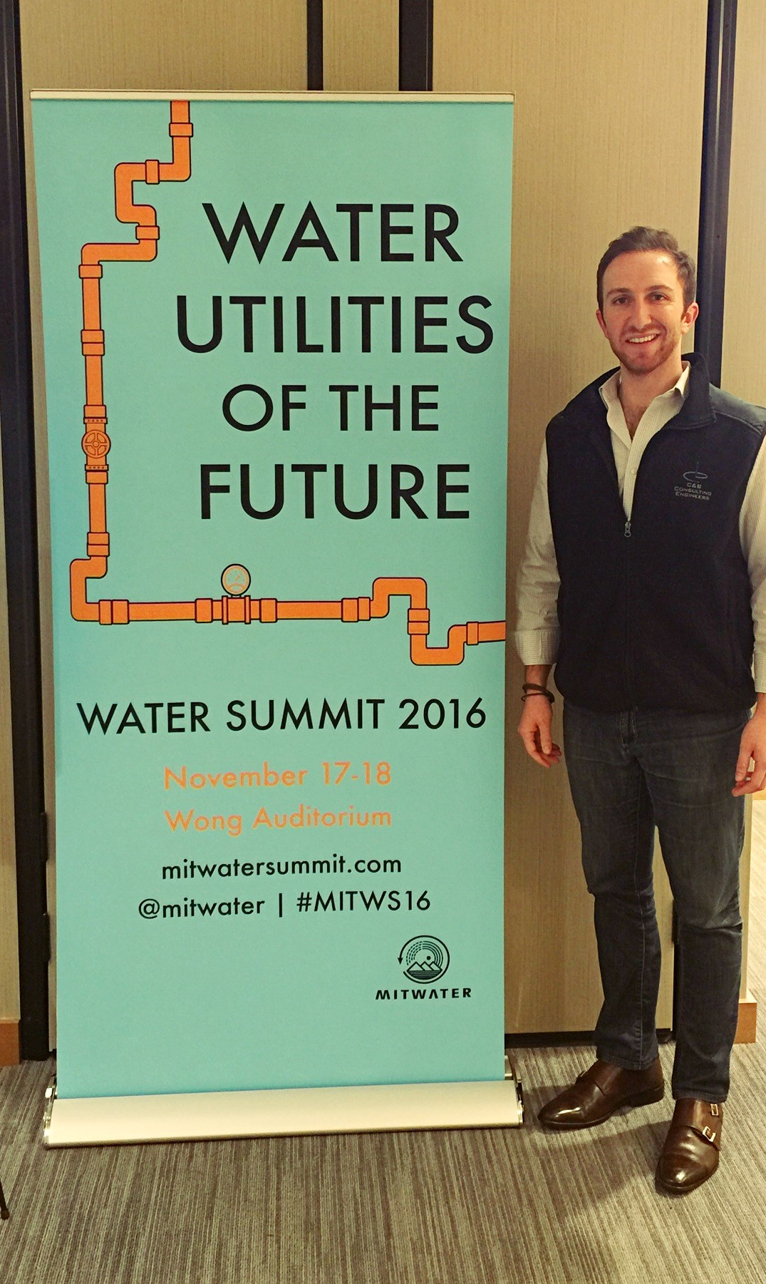 Aaron Tartakovsky representing Epic CleanTec at MIT's Water Summit, Nov. 18, 2016. Photo: courtesy