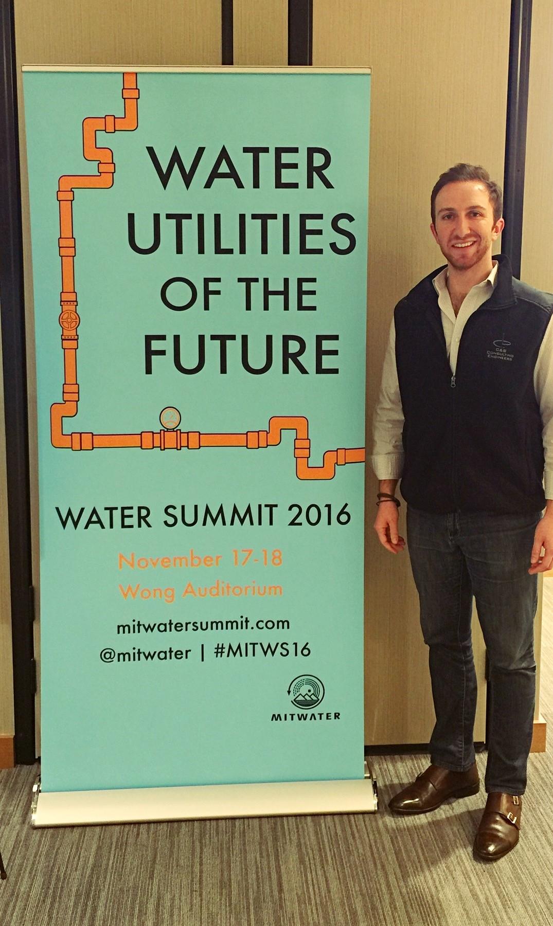 Aaron Tartakovsky representing Epic CleanTec at MIT's Water Summit, Nov. 18, 2016. Photo: courtesy