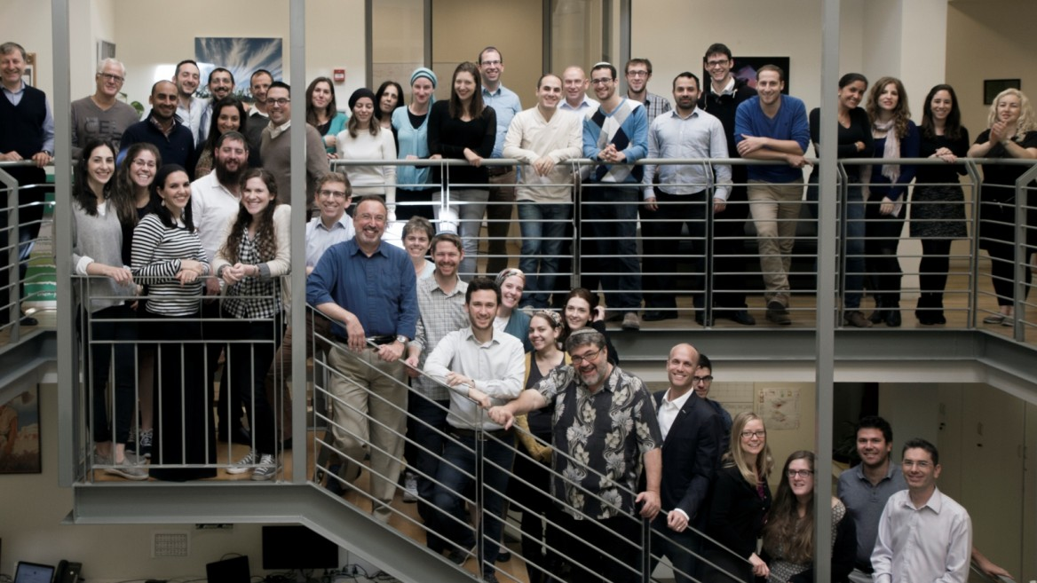 OurCrowd's global employees number more than 100. Here's the Jerusalem team. Photo: courtesy