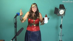 Molly Livingstone tries out for the role of Wonder Woman. Photo courtesy