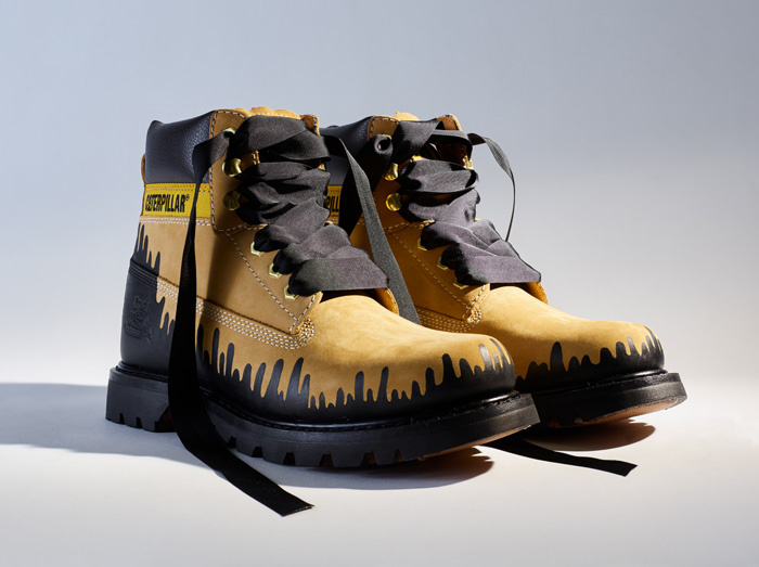 Gregory Morfi (Cyprus) offers his version of a CAT boot. Photo from catfootwear.com
