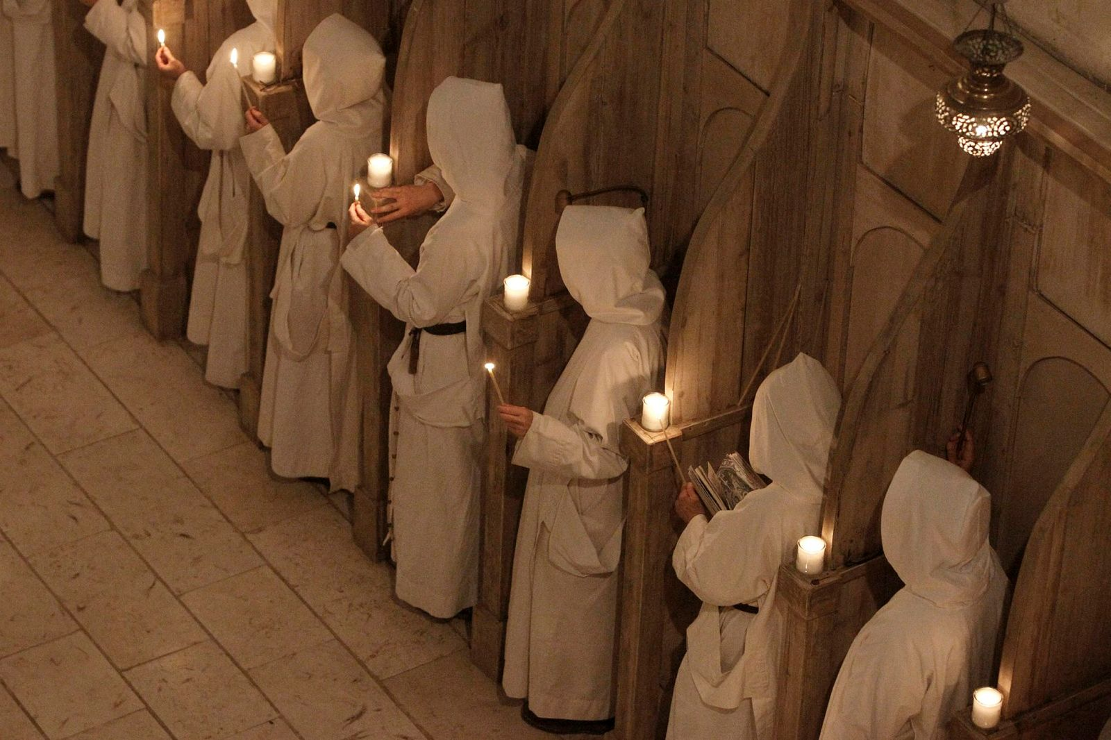 Catholic nuns from the Sisters of Bethlehem pray during midnight mass on Christmas Eve at the Beit Jamal Monastery near Jerusalem. Photo by Miriam Alster/Flash90.