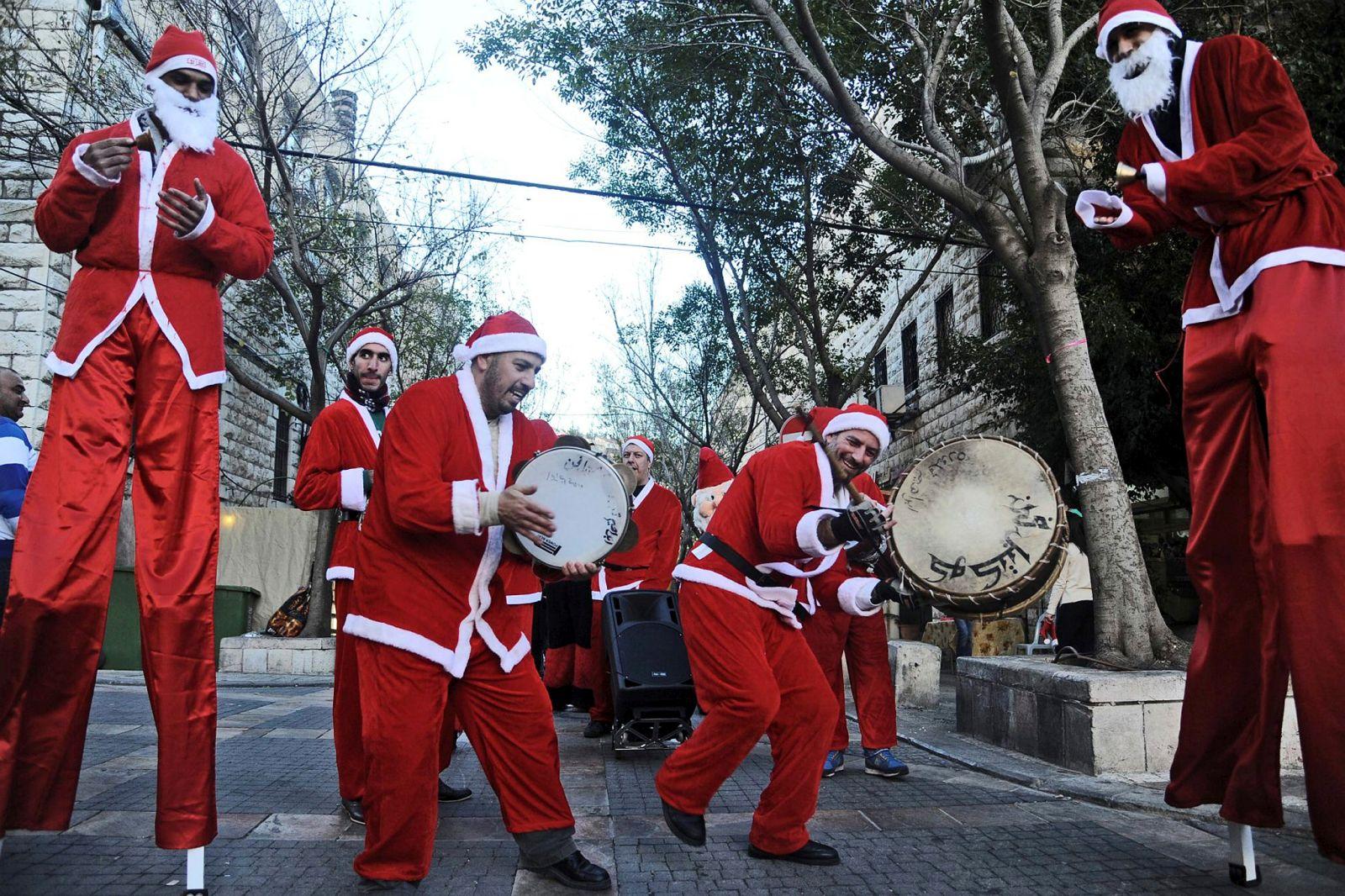 Celebrating Christmas in Nazareth. Photo by Flash90