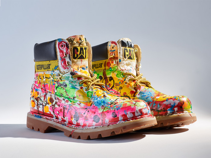 Kenzi Katayama (Japan) added color to the usually tan CAT boot. Photo from catfootwear.com
