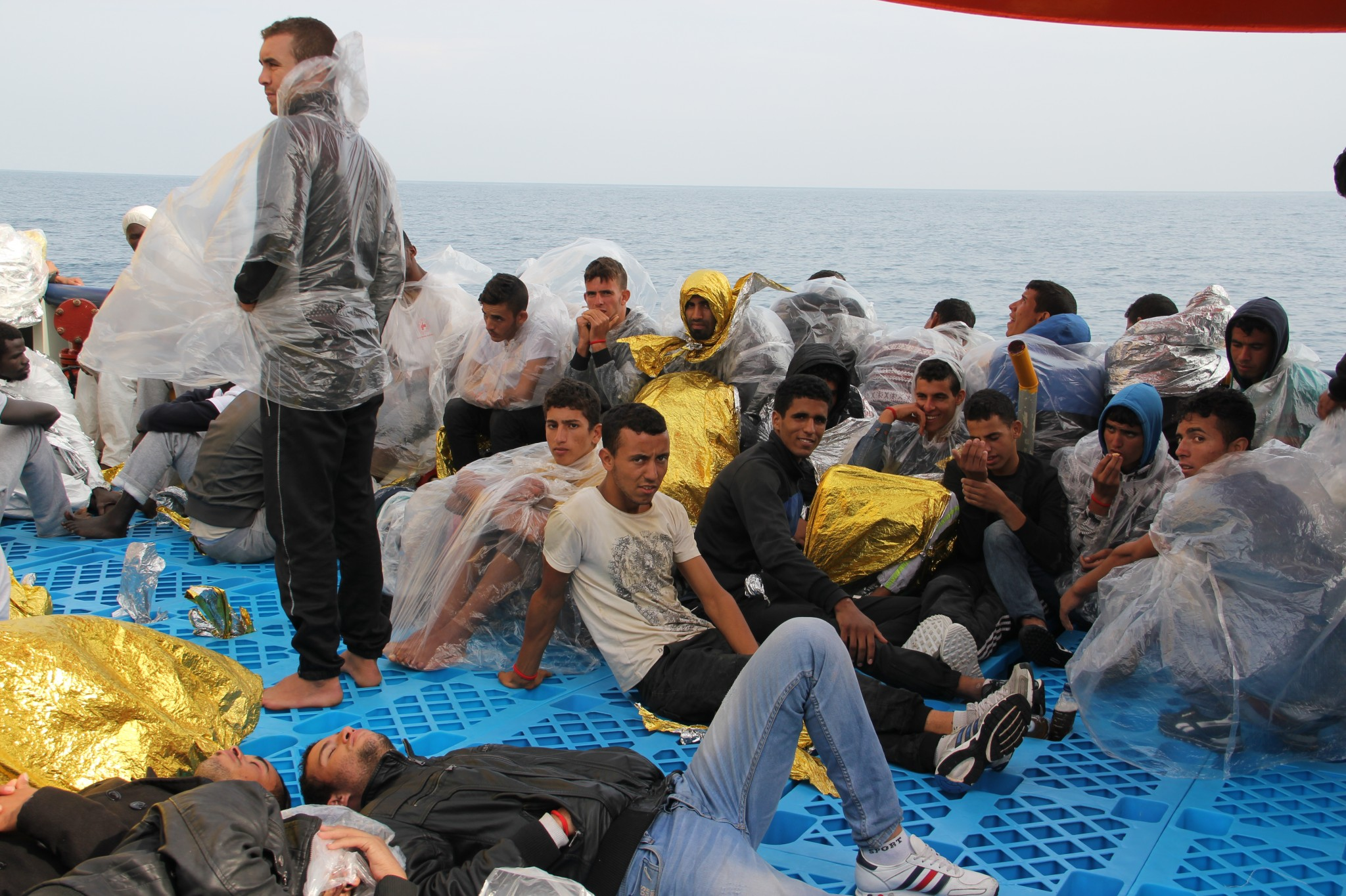 The refugees come from several different conflict regions, all trying to reach safety in crowded boats. Photo: courtesy