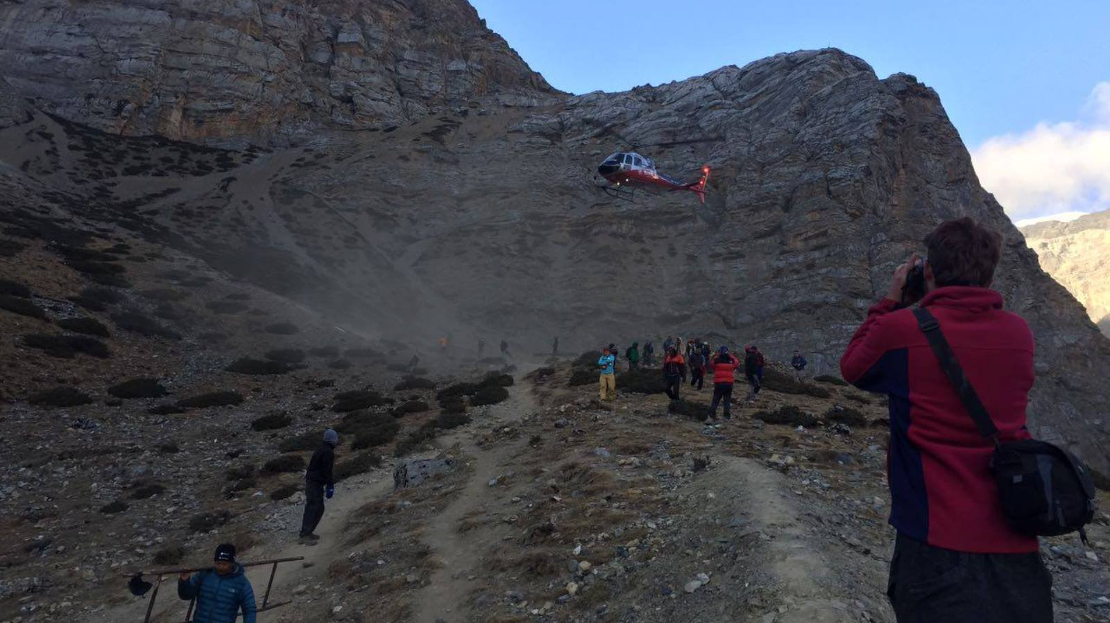 Thanks to Israeli backpackers and Chabad House Thamel in Kathmandu, a Japanese trekker trapped under boulders was rescued quickly. Photo via Facebook