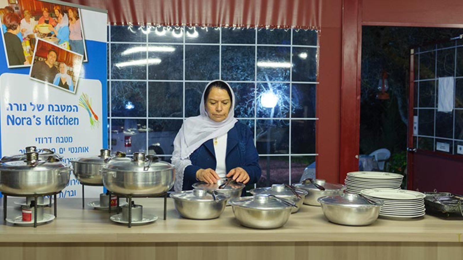 Nurah Husaisi in her restaurant in Daliat el-Carmel. Photo: courtesy