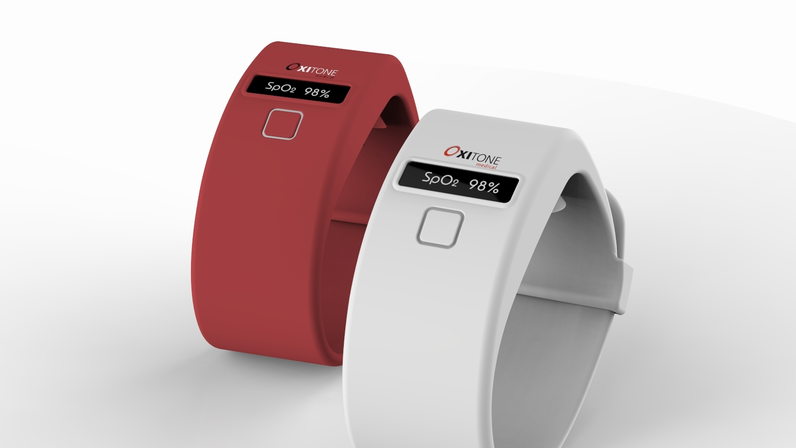 Oxitone's prototype blood-oxygen monitoring wearable. Photo: courtesy