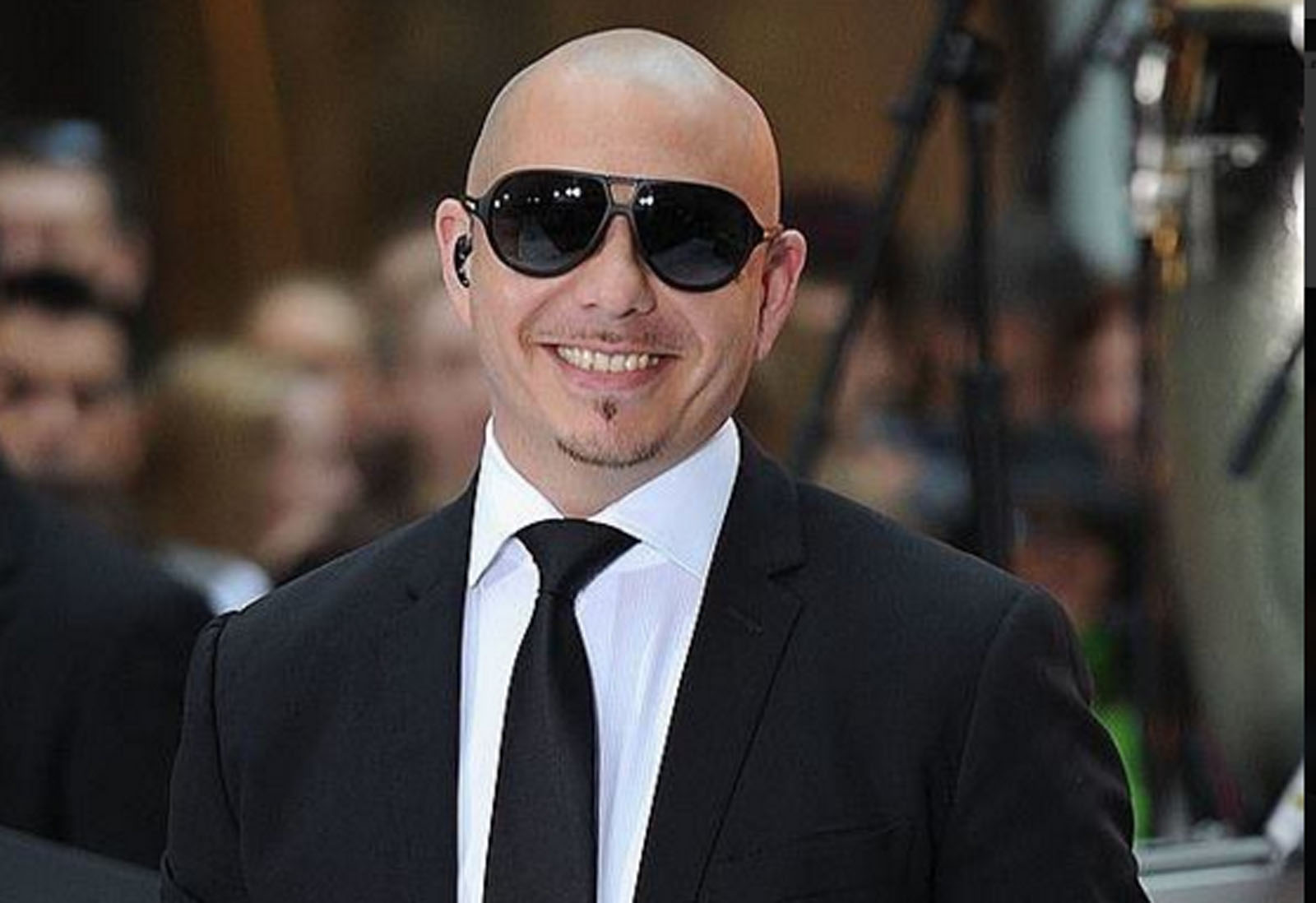 Pitbull. Photo via Twitter