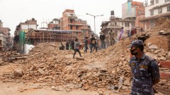 Destruction in Nepal after the 2015 earthquake. Image via Shutterstock.com