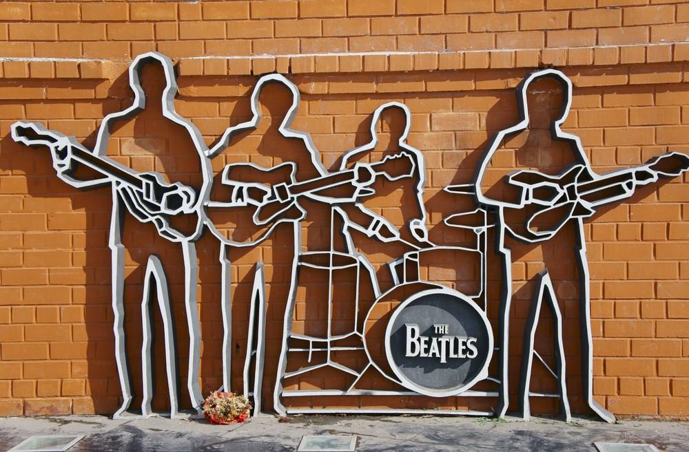 The Beatles monument in Yekaterinburg, Russia. Photo via Shutterstock.com