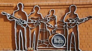 The Beatles monument in Yekaterinburg, Russia. Photo via Shutterstock.com