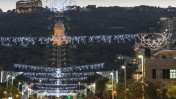 The German Colony in Haifa, is decorated for the holidays. Photo by Shutterstock.com