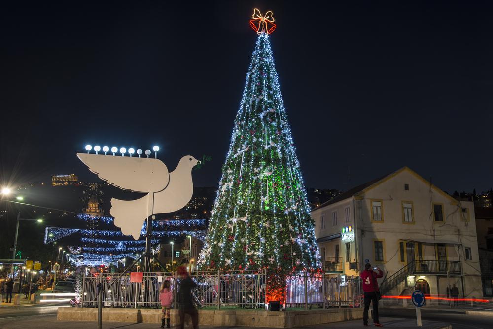 christmas in the german colony of haifa photo by sapir bronzbergflash90