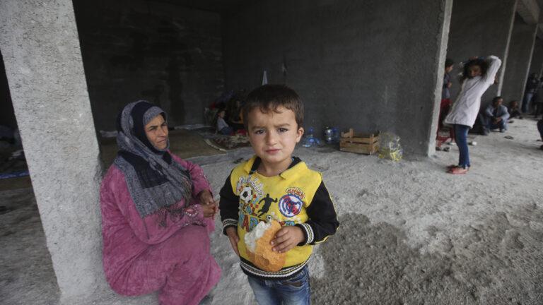 Syrian refugees. Photo via Shutterstock.com
