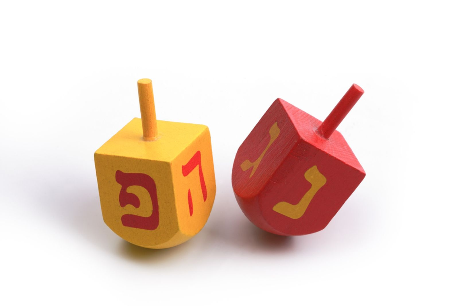 Photo of dreidels by Mordechai Meiri/Shutterstock.com