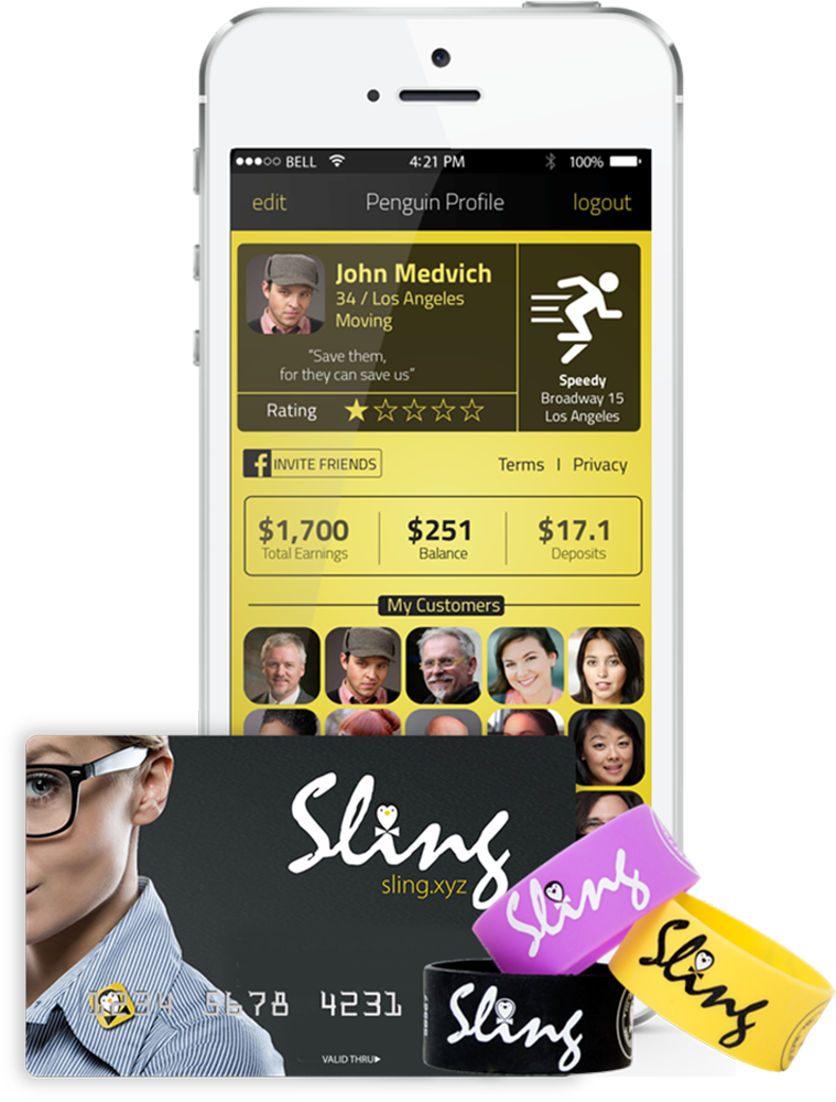 Sling enables cashless, credit-card-free payments to micro merchants. Photo: courtesy
