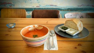Chase away chills with a bowl of Israeli soup. Photo courtesy of Hamarakia, Jerusalem