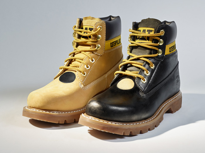 Jonas Nyberg (Sweden) designed boots to wear. Photo from catfootwear.com