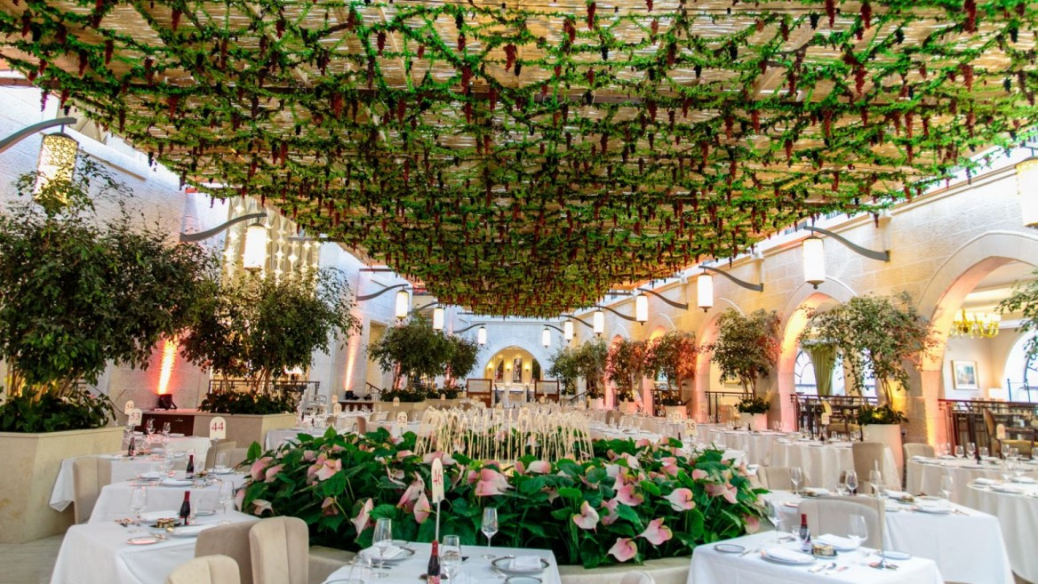 The sukkah at the Waldorf Astoria Jerusalem. Photo by Perry Easy
