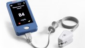 GlucoTrack DF-F, Integrity Applications' noninvasive glucose meter using an ear clip. Photo: courtesy