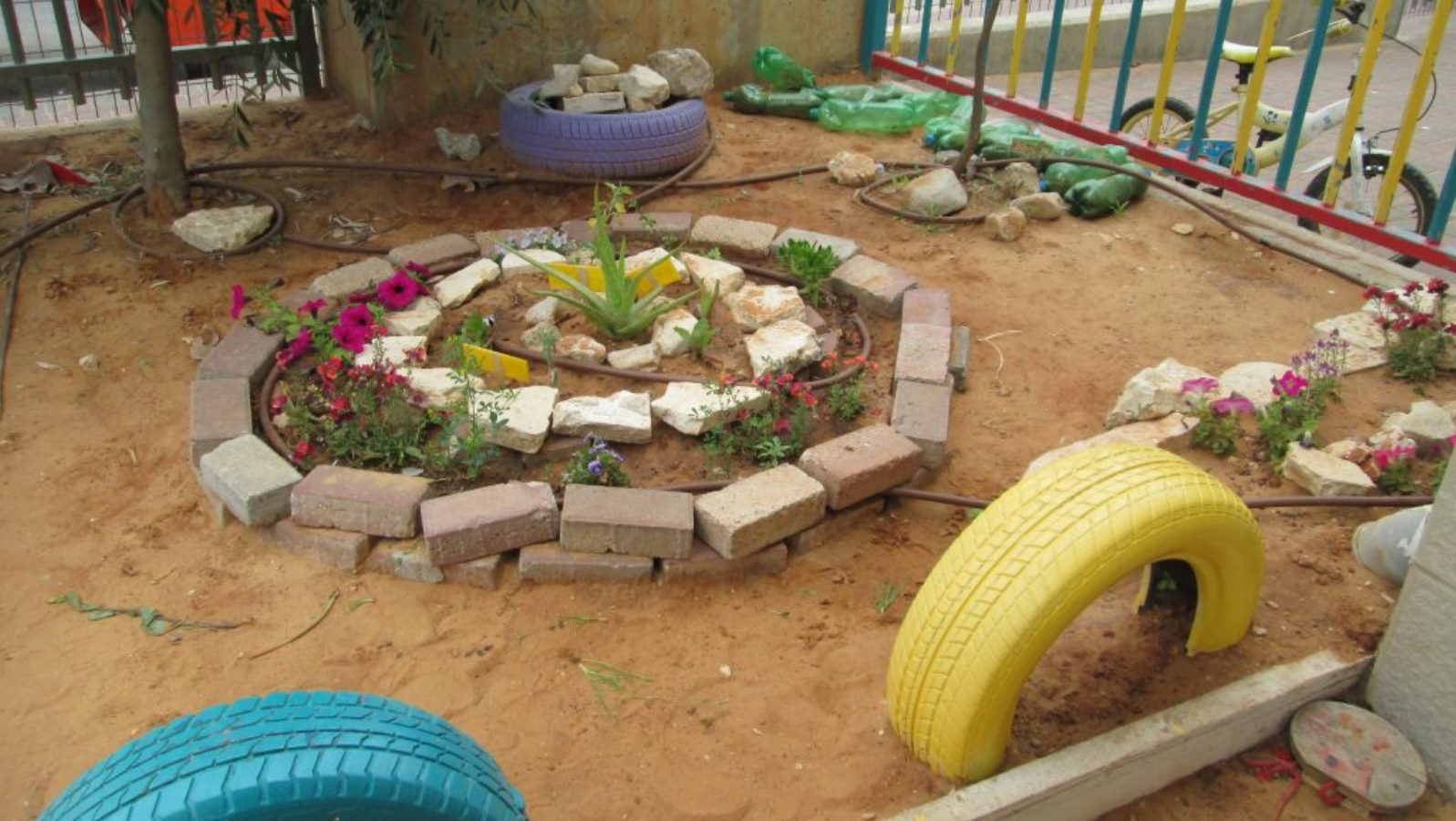 A preschool garden in Modi'in Illit. Photo: courtesy