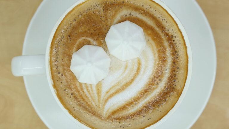 A vegan meringue kiss will sweeten up the world's hot drinks. Photo courtesy