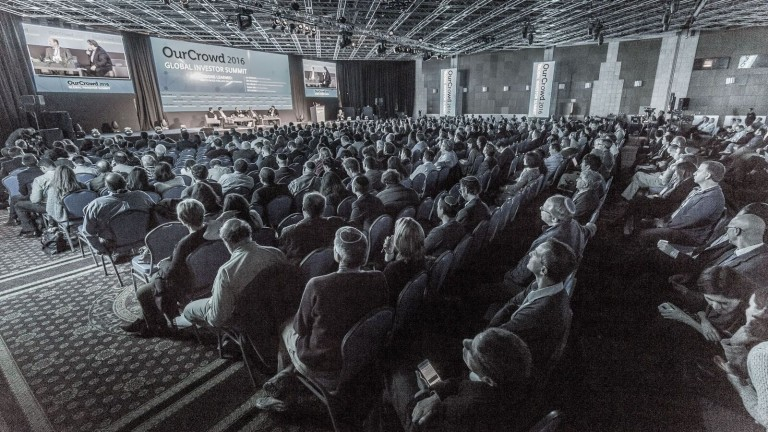 The 2016 OurCrowd Global Investor Summit brought thousands of people to Jerusalem for the largest equity crowdfunding and the largest tech investment conference in the region. This year's summit is on February 16, 2017 in Jerusalem. Photo: courtesy