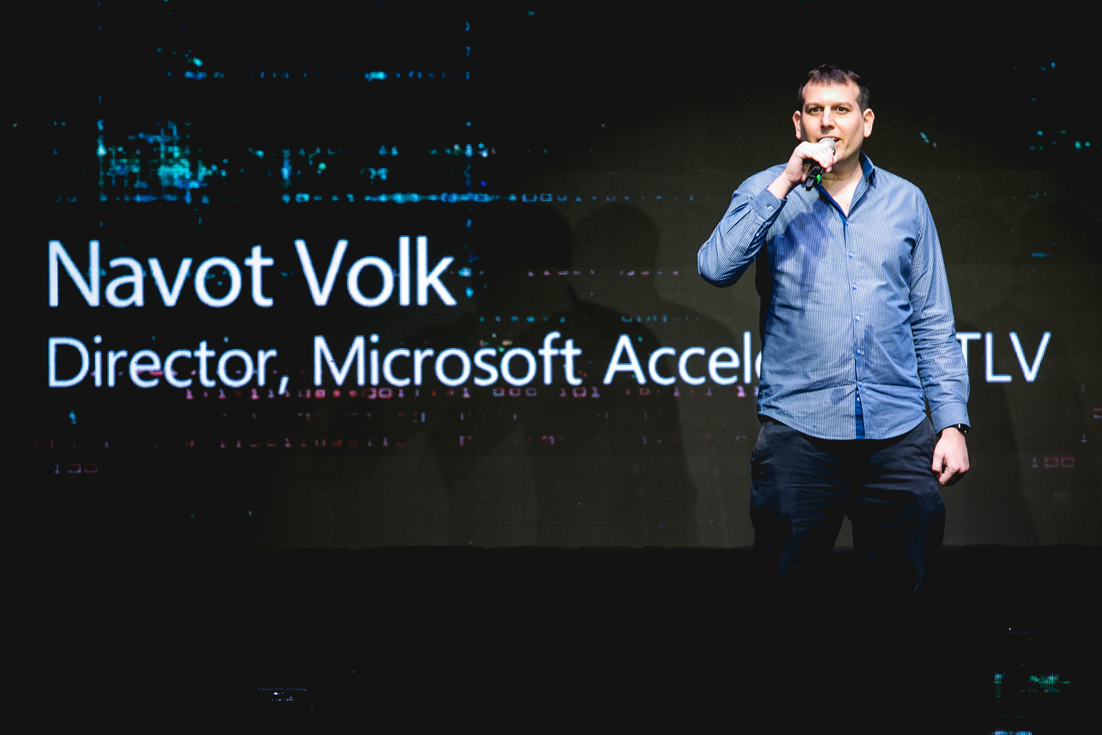 Navot Volk at Microsoft Accelerator Tel Aviv. Photo by Tomer Foltyn