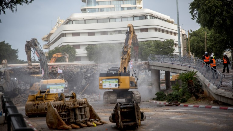 Construction in Dizengoff Square is expected to take a year. Photo by Miriam Alster/FLASH90