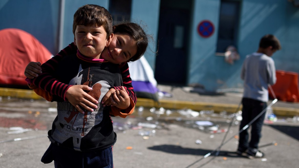 Israel plans to adopt orphaned victims of syrian war israel21c syrian refugee children at a temporary shelter in athens photo by gili yaariflash90 ccuart Choice Image