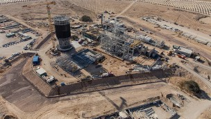 Megalim Solar Power's Ashalim power station now being built in the Negev desert. Courtesy