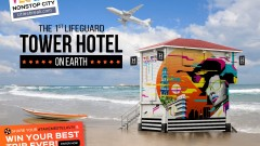Tourism Ministry's ad campaign for Lifeguard Tower hotel campaign. Photo courtesy
