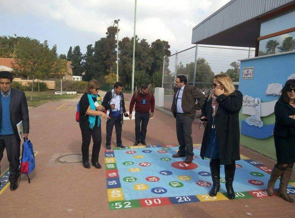 Colombian educators visit schools around Israel to learn about different ESD models. Photo via Facebook
