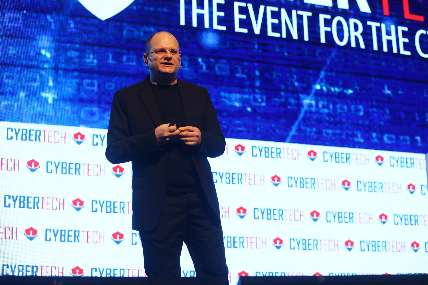 Gil Shwed, founder and CEO of Check Point Software Technologies, a pioneer of firewall security, speaking at Cybertech 2017. Photo by Gilad Kavalerchik