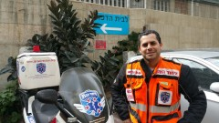 Avraham Levi of Netanya responded to 236 medical emergencies during January 2017. Photo courtesy of United Hatzalah
