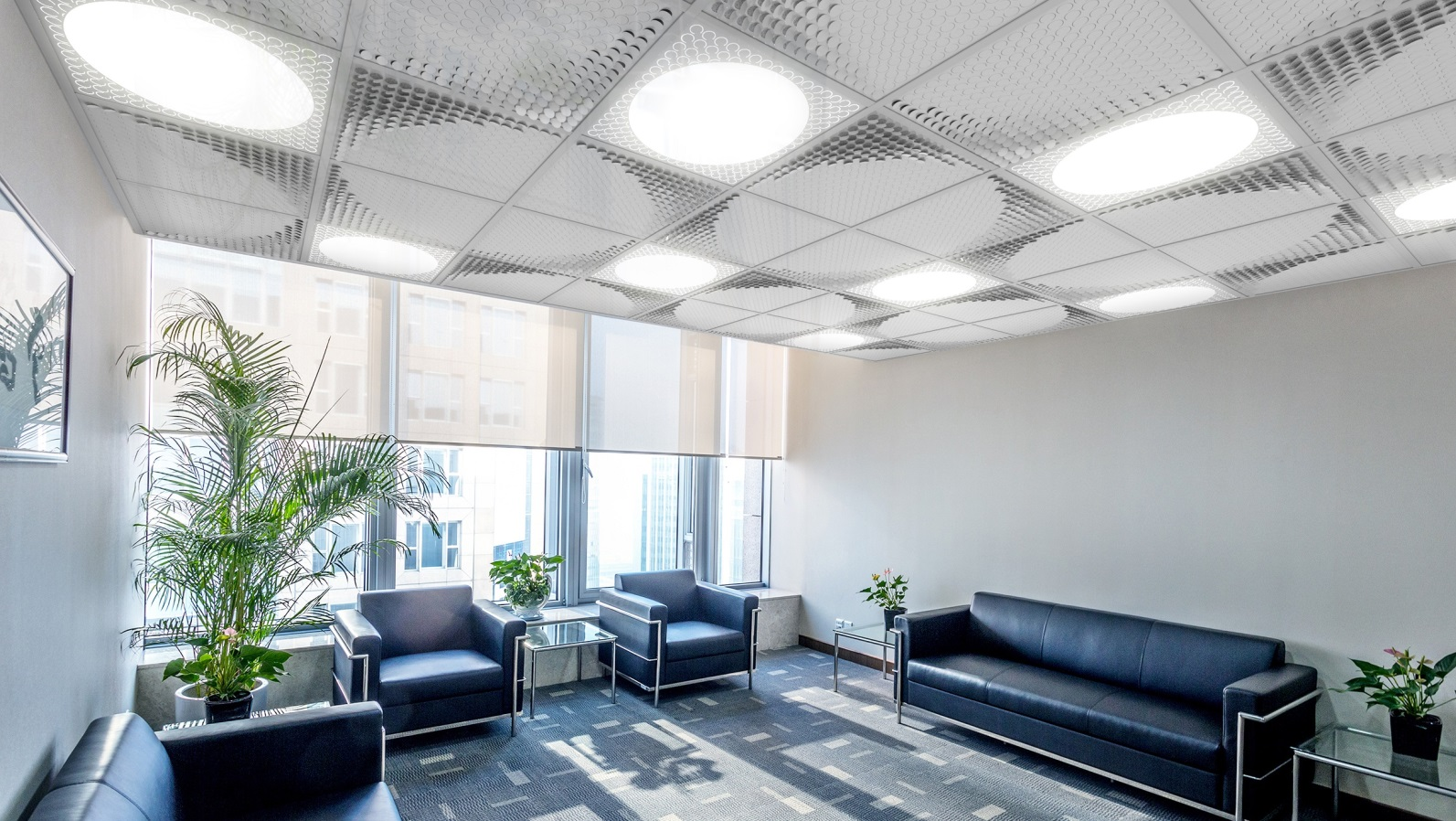 An example of how office designers can use the new Gaash Lighting line, Ceilight. Photo: courtesy