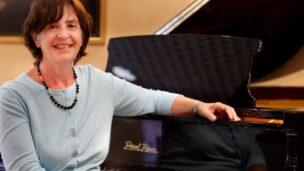 British-born composer Loretta Weinberger at home in Ra'anana. Photo via Facebook