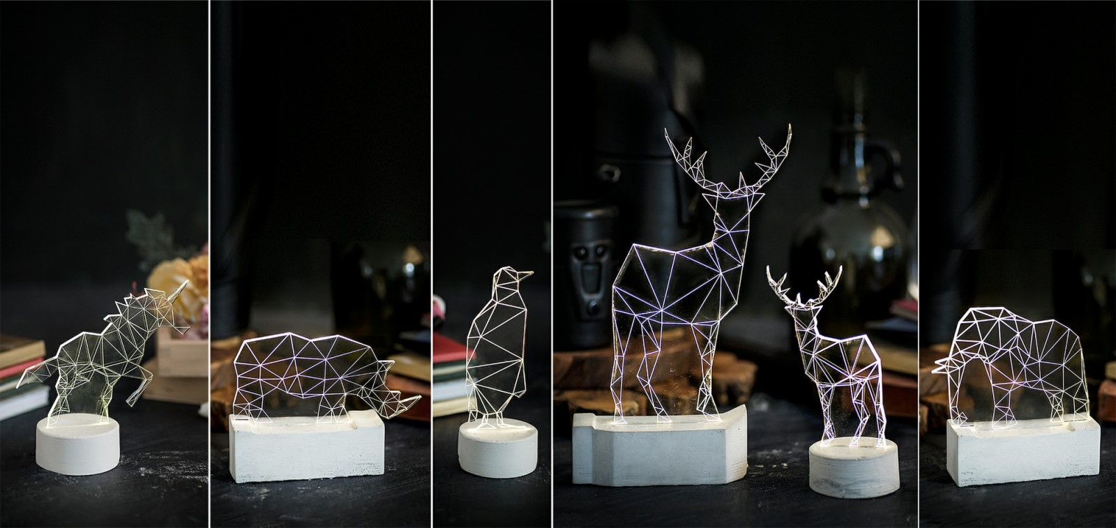 Amit Sturlesi's iLLuminite Zoo Collection. Photo: courtesy
