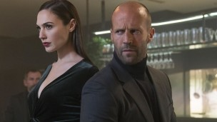 Gal Gadot and Jason Statham star in the Wix.com ad campaign for Super Bowl LI. Photo courtesy