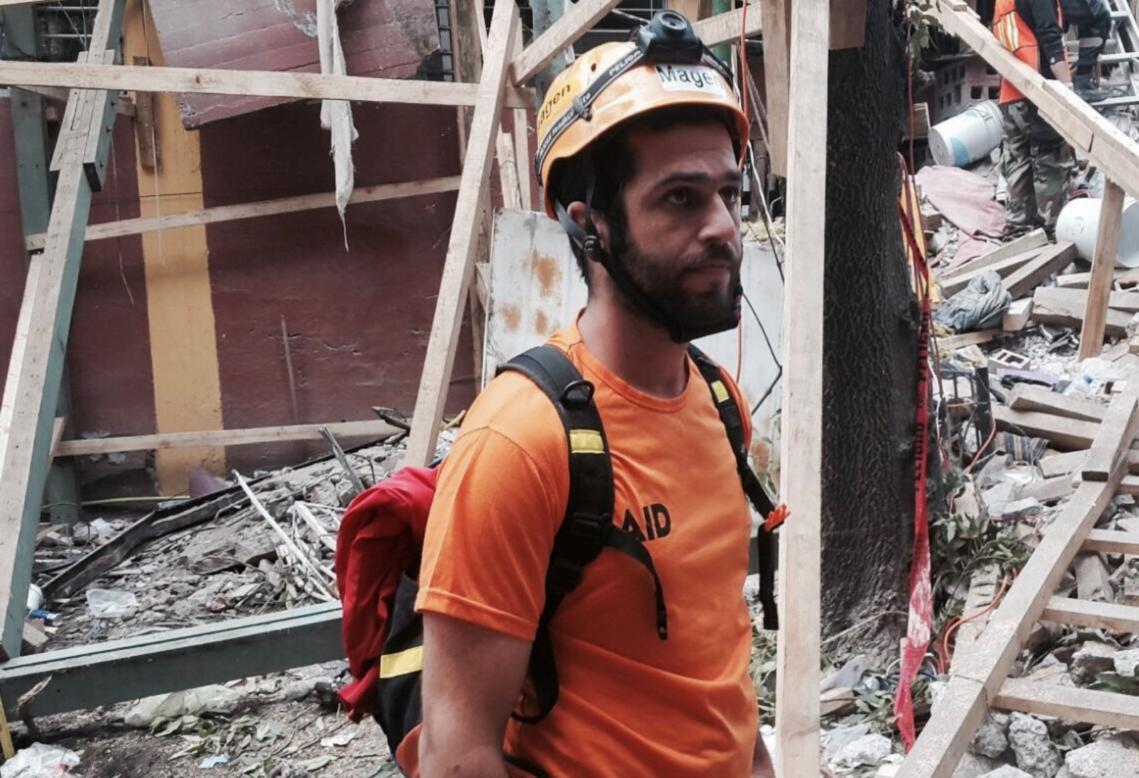 An IAID Volunteer Assessing Damage In Mexico Photo Courtesy
