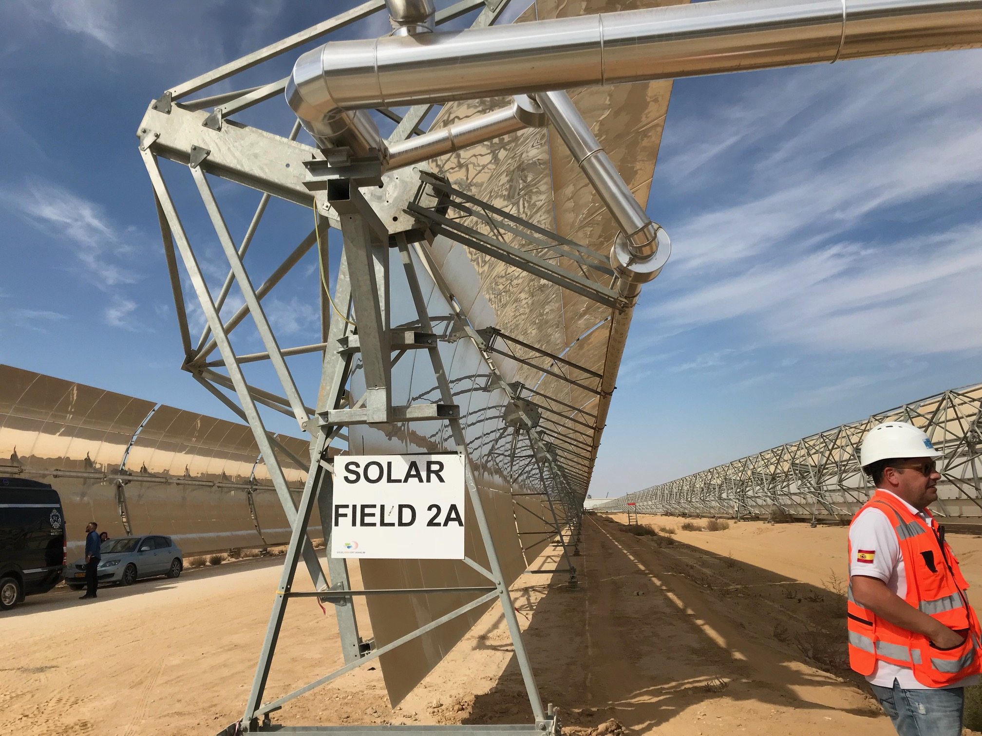 Take a tour of Israel's huge new solar-energy valley in the desert