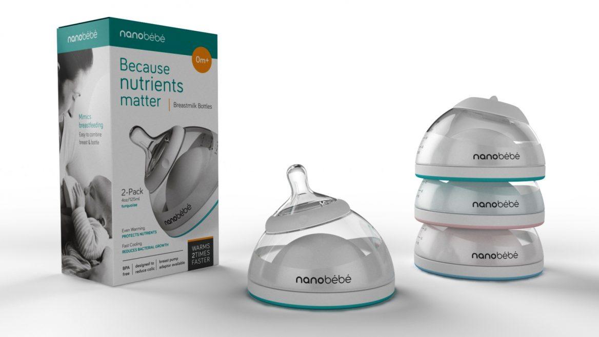 Nanobébé bottle is made to preserve breastmilk nutrients ...